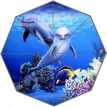 Novinkou dárek Dobrá kvalita Sun déšť deštník 2015 Nejlepší dva delfíni Sledování na vás přenosné Skládací Deštníky (Čína (pevninská část))