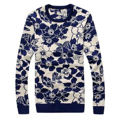 Men's 2015 New Spring/Autumn Men's Sweaters Slim Fit Floral Cotton Sweater Men Pullovers Men Clothes ropa hombre -in Pullovers from Men's Clothing & Accessories on Aliexpress.com | Alibaba Group
