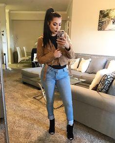 "Bodysuit & Jacket: @laurasboutique code: ""evettexo"" Jeans: @fashionnova code ""xoevette"" Shoes: @lolashoetique code: ""Evettexo"""