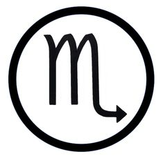 SCORPIO - Astrology Patch SCORPIO is ruled by either the planet Pluto or Mars. Its ruling element is Water.  Resourceful, Brave, Passionate & Loyal. Astrological Symbols, Lululemon Logo, Scorpio, Mars, Brave, Patches, Passion, Tatoo, March