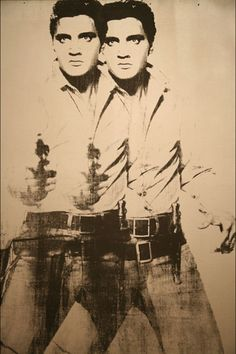 """Double Elvis"", Andy Warhol (1963). we can barely handle one!"