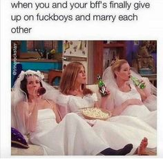 Getting over a breakup takes time, tears, talks over brunch with your best friends — and memes. Lots of memes. Friends Cast, Friends Episodes, Friends Moments, Friends Tv Show, Funny Friend Memes, Funny Memes, Funny Friends, Funny Quotes, Memes About Friends