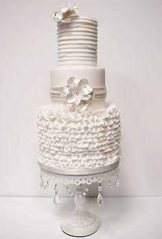 Kakes by Karen, Naples, FL $15 per slice, 60 servings Brides: Outstanding Wedding Cake Designs | Wedding Cakes | Brides.com