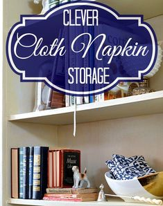 Clever Cloth Napkin Storage - Sharon E. Hines - - Store your table linens in style with this clever idea for cloth napkin storage. Cloth Napkins Bulk, Linen Napkins, Napkins Set, Linen Closet Organization, Diy Organization, Organized Mom, Easy Sewing Projects, Diy Projects, Organizing Your Home