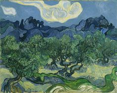 """Vincent Van Gogh, """"The Olive Trees in a Mountainous Landscape"""", 1889, Museum of Modern Art, New York. #Laudemio #artgallery"""