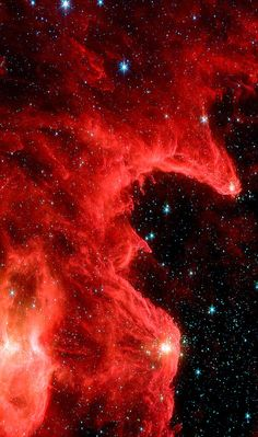 "n-a-s-a: "" • The Mountains of Creation nebula (W5) from the Spitzer space telescope. The image, dubbed the Mountains of Creation by astronomers, reveals hotbeds of star formation similar to the iconic..."
