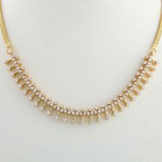 Elegant white cz stoned necklace must have!!!
