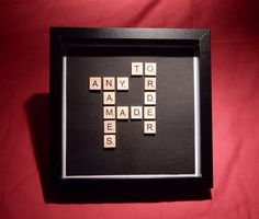Scrabble art names photo frame. Family names. by AbStyleArt