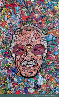 Stan Lee Canvas Paintings Father Of Marvel Framed HD Canvas Prints Pop Art Poster Wall Art Decoration Super Hero Collection Batman Spiderman Iron Man Comics Wall Decor for Home Office Marvel Avengers, Marvel Comics, Films Marvel, Marvel Memes, Marvel Characters, Spiderman Marvel, Stan Lee Spiderman, Marvel Fan Art, Collage Poster