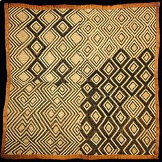 Kuba Textiles from the Congo Ethnic Patterns, Textile Patterns, Cultural Patterns, Textile Art, African Textiles, African Fabric, Pantone, Congo, Art Premier
