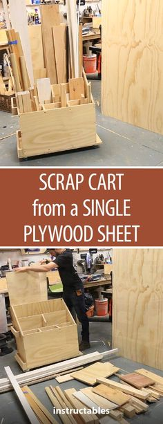 Scrap Cart From a Single Plywood Sheet (w/ Plans!) 2019 Scrap Cart From a Single Plywood Sheet (w/ Plans!) The post Scrap Cart From a Single Plywood Sheet (w/ Plans!) 2019 appeared first on Woodworking ideas. Woodworking Shop Layout, Woodworking Furniture Plans, Woodworking Guide, Woodworking Workshop, Easy Woodworking Projects, Popular Woodworking, Fine Woodworking, Wood Furniture, Woodworking Classes