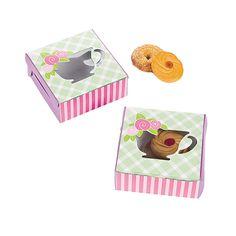 12 Tea Party Cookie Boxes - OrientalTrading.com