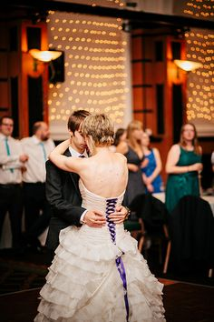 Bold Colored Ribbon Lacing Up The Back Of Dress Geek Wedding Irish