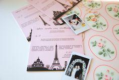 -wieża-eiffla-motyw-przewodni-wesela #invitation #wedding #paris #eiffeltower #pink