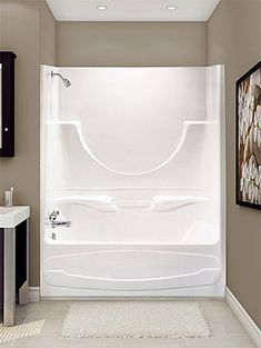 One Piece Shower Tub Combo Bathtub Doors Bath