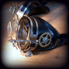 Steampunk  goggles glasses Time Travel Crazy Scientist's Oculo-Vision Tool welding cyber punk biker gothic rave. $39.99, via Etsy.