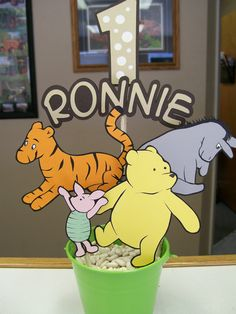 Handmade Classic Winnie the Pooh Party Centerpiece by CSCuteCrafts, $30.00