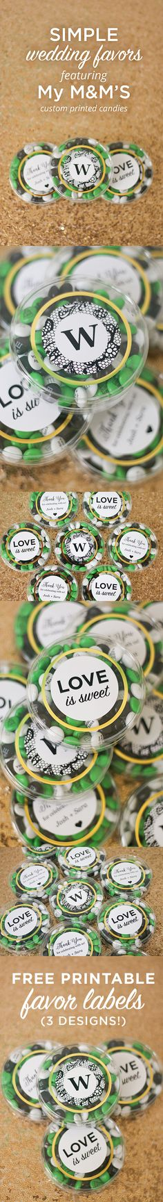 Simple Wedding Favors featuring My M&M'S! (Plus free printables
