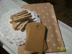 DIY Gift Bag Set of 6 by ScrapHappyMama on Etsy, $4.95
