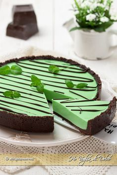 Crostata menta e cioccolato after eight, una finta crostata ricetta senza…