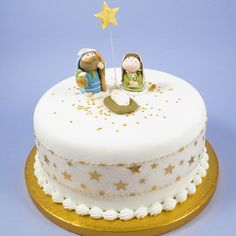 ICING NATIVITY SET WITH GOLD ICING STAR & PICK - PRODUCT CODE: XMAS5