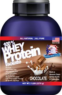 100% Whey Protein Isolate 5lbs,  69 Servings : Murican Whey Protein: Highest quality whey isolate protein,29 g of protein per serving,Extremely high biological value,Fortified with glutamine peptides to further support muscle tissue integrity and immune system efficiency,Aspartame free,Rich in Branch chain amino acids and Glutamine,Rich in immune system enhancing protein fractions