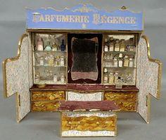French room-box perfume shop