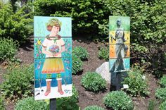 "A 26-work art display of ""exquisite corpse"" wooden panel paintings are up and on display in a season-long special exhibit at Hershey Gardens."