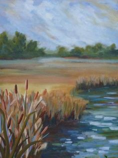 30x40 Cattails.. I own this original piece..It is beautiful..