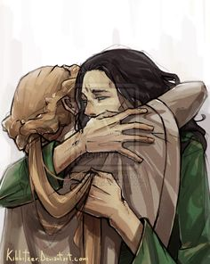 """I'm sure that Frigga went to see Loki in his prison with or without the permission of Odin. maybe they said: """"No Frigga he's not the same Lo...."""