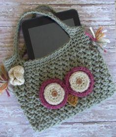 Crochet Owl Ipad Cover - PDF Pattern - Kindle Nook Tablet Gaget