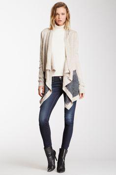 fishnet asymmetr, sweater, shawl fishnet, coutur shawl, cloth