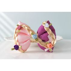 Tangled Hair Bow; Rapunzel Hair Clip; Disney Princess Hair Accessory;... ($11) ❤ liked on Polyvore featuring accessories, hair accessories, barrette hair clips, bow hair clip, hair bow accessories, hair bows and hair clip accessories