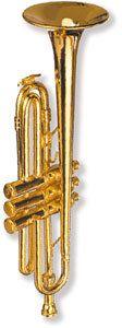 Cooler Magnet Trompete für Musiker!