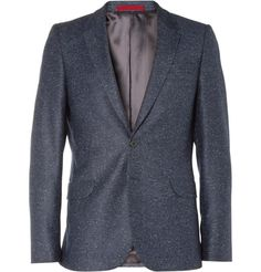 d23b23044a6 PS by Paul Smith - Blue Navy Flecked Wool-Blend Suit Jacket for Men - Lyst