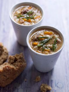 Brown Windsor soup with pearl barley with succulent stewed beef Tuck into this hearty and thick beef soup for a proper winter warmer Beef Soup Recipes, Chowder Recipes, Cooking Recipes, Marmite Recipes, Steak Recipes, Beef Barley Soup, Pearl Barley, Homemade Soup, Soup And Salad