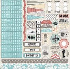 Memories 12x12 Sticker Sheet