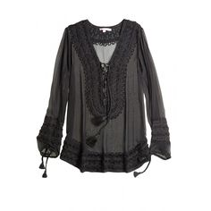 Hand embroidered silk tunic.