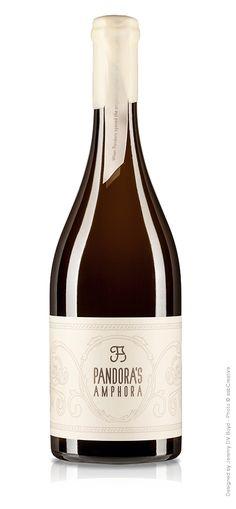 Jeremy DV Boyd, Pandora's Amphora, Wine Packaging Design, Wine Label Design, Vermentino Fiano Moscato Giallo - Bottle