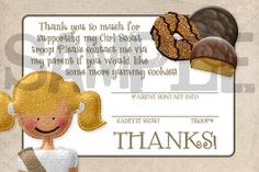 Girl Scouts Cadette Cookie Sales Thank You