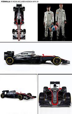 mosaico mclaren formula 1 carro novo (Foto: Editoria de Arte)