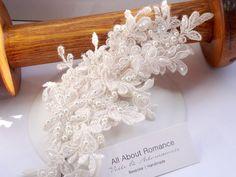 Bespoke #bridal #headpiece for Rachel. Beaded English lace