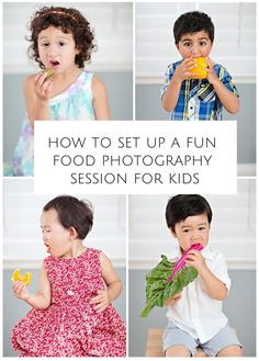 Forget expensive props, here's how to set up a quick fun food themed photo shoot right at home to capture kids' hilarious and priceless expressions.