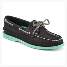 Sperry Top-Sider Women's Authentic Original,Black/Jade Leather,US 9.5 M (*Partner Link)