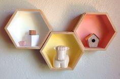 hexagon shelves - Google Search