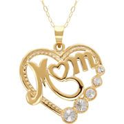 """Heart """"Mom"""" Pendant Necklace 10K Gold from JCPenney. #jcpenney #MarketStreetFlo"""