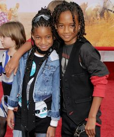 Willow and Jaden Smith, April 2009 Totally comfortable on the red carpet, the Smith kids hang together.