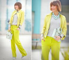 lime green colors outfit for spring and summer on GalantGirl.com