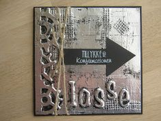 Konfirmation card Project Life Cards, Masculine Cards, Tim Holtz, Metal Art, Inspire Me, Boy Or Girl, Projects To Try, Card Making, Paper