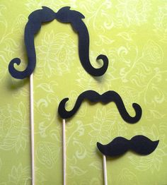 Staches of fun Set of 12 Moustaches on a stick for by EMTsweeetie, $6.00    Fun for photo booth!